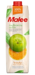 Malee Tangerine Orange Juice with Orange Pulp, 1 л