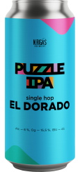 New Riga's Puzzle IPA, Single Hop El Dorado 0,45 л ЖБ